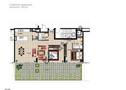 2 BR APT, Ground Floor, Plot 005, Type 2AA