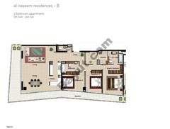3 BR APT BLDG B, 5th Floor, Plot 506, Type 3J