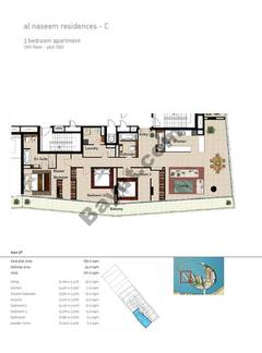 3 BR APT BLDG C,12th floor , Plot1201, Type 3p