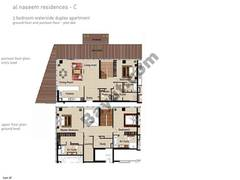 4 BR APT BLDG C, Ground floor and pontoon - Floor, Plot 006, Type 3E