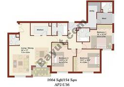3 Bedrooms Apartment 2