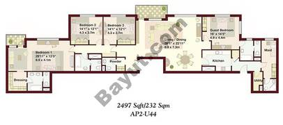4 Bedrooms Apartment 2