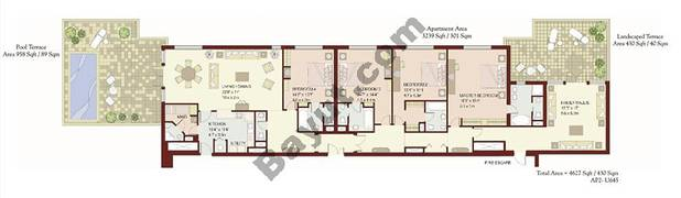 4 Bedrooms Terrace Apartment 1
