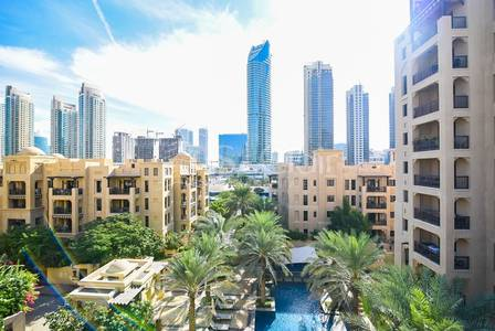 2 Bedroom Flat for Rent in Old Town, Dubai - 2BR with Balcony in Reehan 8 | Mid Floor