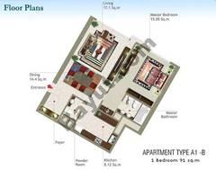 1 Bedroom Type A1-B