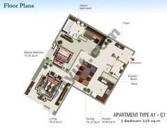 1 Bedroom Type A1-C1