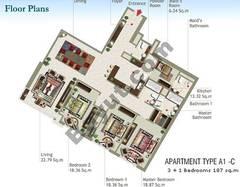 3 + 1 Bedroom Type A1-C