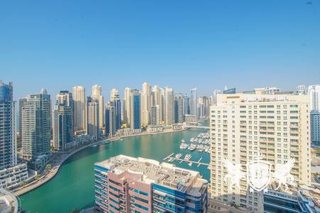 3 Bedroom Flat for Rent in Dubai Marina, Dubai - Full Sea View I 3 Bed + Maids I The Waves