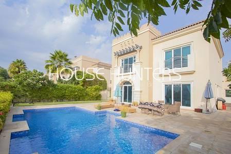 5 Bedroom Villa for Rent in Dubai Sports City, Dubai - Private pool | Full golf course view | Calida