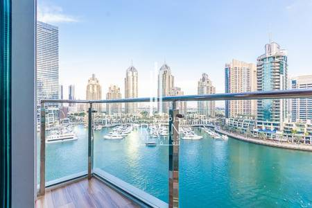 1 Bedroom Flat for Sale in Dubai Marina, Dubai - Upgraded 1BR Unit with Full Marina Views
