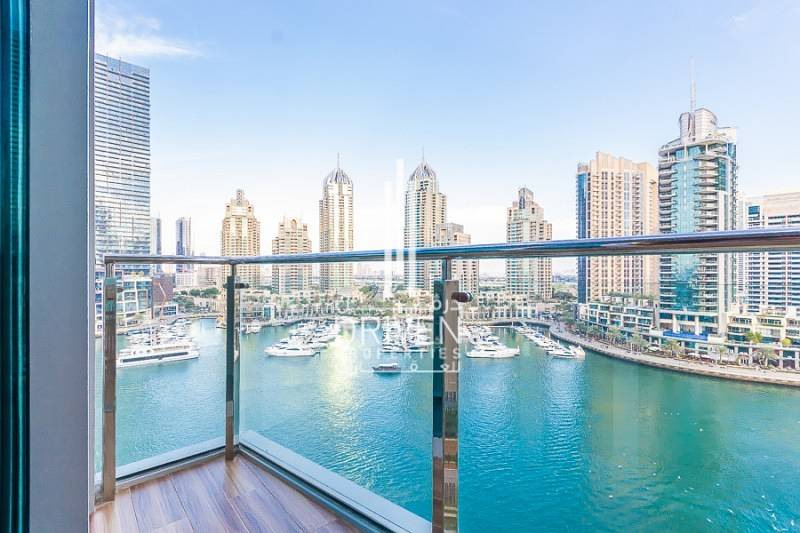 Upgraded 1BR Unit with Full Marina Views