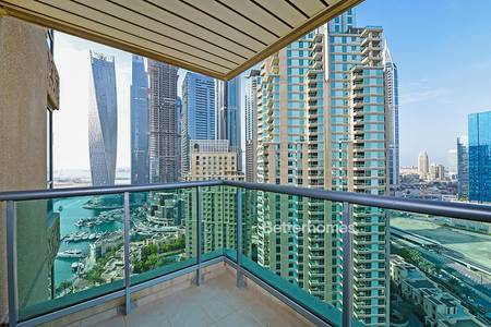 4 Bedroom Flat for Rent in Dubai Marina, Dubai - High Floor | Golf Course & Marina View