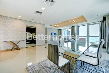 2 Bedroom Flat for Rent in Dubai Marina, Dubai - Deluxe 2BR|Fully Furnished| Sea view| Al Dar