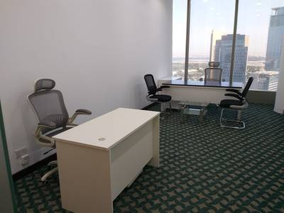 Office for Rent in Sheikh Zayed Road, Dubai - Fully Furnished & Fully Serviced Independent Office at Ideal location  of Sheikh Zayed Business HUB Besides Ritz Carlton