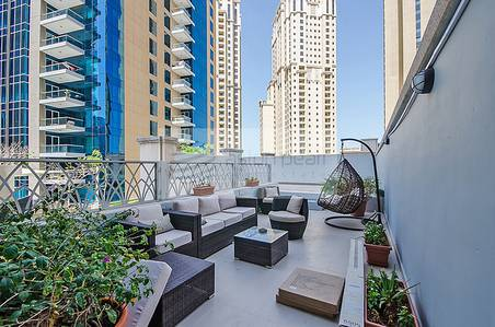 1 Bedroom Apartment for Sale in Dubai Marina, Dubai - Furnished 1BR with Terrace On Low Floor