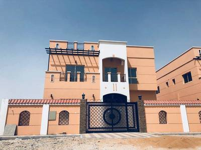 5 Bedroom Villa for Sale in Al Mowaihat, Ajman - For sale Villa two floors Modern new finishing Super Deluxe