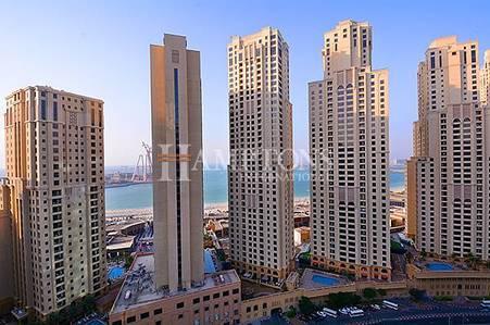 1 Bedroom Apartment for Rent in Dubai Marina, Dubai - High Floor   Sea View   Unfurnished
