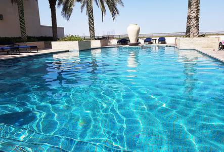 2 Bedroom Flat for Rent in Eastern Road, Abu Dhabi - Fully Furnished Large Sea View Terrace