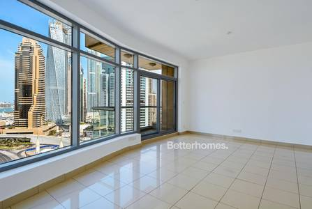 2 Bedroom Apartment for Rent in Dubai Marina, Dubai - Unfurnished   Bonaire   Marina View