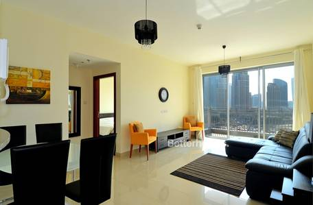 1 Bedroom Flat for Rent in Downtown Dubai, Dubai - Fully Furnished | Fountain & Opera View