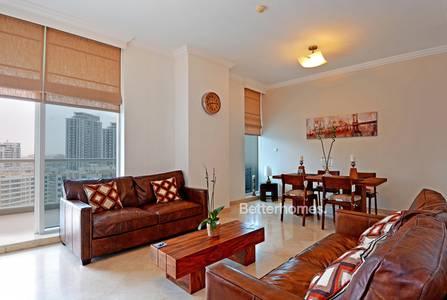 2 Bedroom Apartment for Rent in Dubai Marina, Dubai - Fully Furnished | 2 Parking | Full Marina View