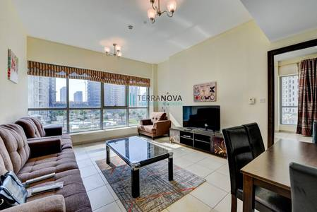 1 Bedroom Flat for Rent in Dubai Marina, Dubai - One Bed Low Floor | Fully Furnished w/ Partial Marina View