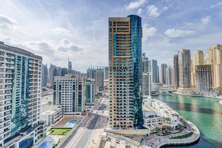 2 Bedroom Flat for Rent in Dubai Marina, Dubai - Partial Marina View | Two Bedroom | high Floor