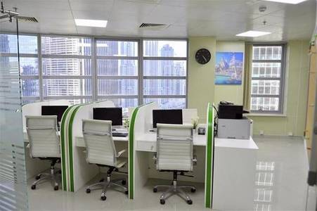 Office for Rent in Business Bay, Dubai - Fully Furnished Office in Albarsha1 with lowest Rent