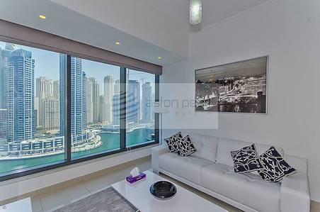 1 Bedroom Apartment for Rent in Dubai Marina, Dubai - Fully Furnished 1 BR | Full Marina  View