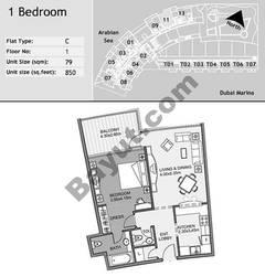 1st Floor 1 Bedroom Type C11