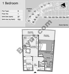 1st Floor 1 Bedroom Type D9