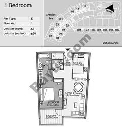 1st Floor 1 Bedroom Type E4