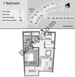 1st Floor 1 Bedroom Type E6