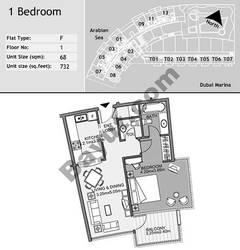 1st Floor 1 Bedroom Type F8