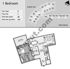 2nd Floor 1 Bedroom Type B5