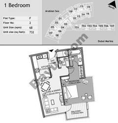 2nd Floor 1 Bedroom Type E16