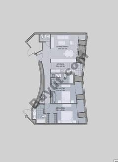 Floors (7-42) Type 1 Unit-2 2 Bedroom