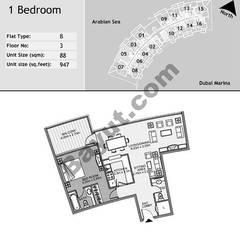 3rd Floor 1 Bedroom Type B5