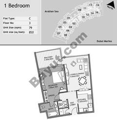 3rd Floor 1 Bedroom Type C11