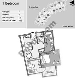 3rd Floor 1 Bedroom Type F16