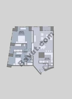 Floors (7-42) Type 1 Unit-8 2 Bedroom
