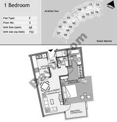 3rd Floor 1 Bedroom Type F8