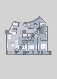 Floors (43-48) Type 2 Unit-3 3 Bedroom