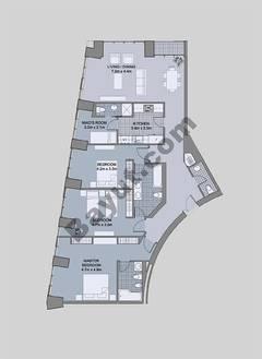Floors (43-48) Type 2 Unit-5 3 Bedroom