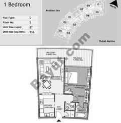 5th Floor 1 Bedroom Type D1