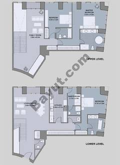 Floors (49-60) Type 3 Unit-1 3 Bedroom