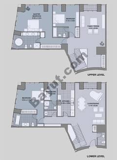 Floors (49-60) Type 3 Unit-10 3 Bedroom