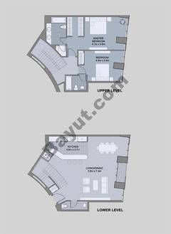 Floors (49-60) Type 3 Unit-2 3 Bedroom