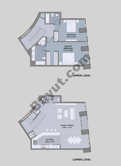 Floors (49-60) Type 3 Unit-4 3 Bedroom