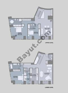 Floors (49-60) Type 3 Unit-6 3 Bedroom